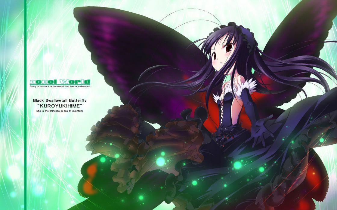 Anime Accel World Kuroyukihime wallpaper