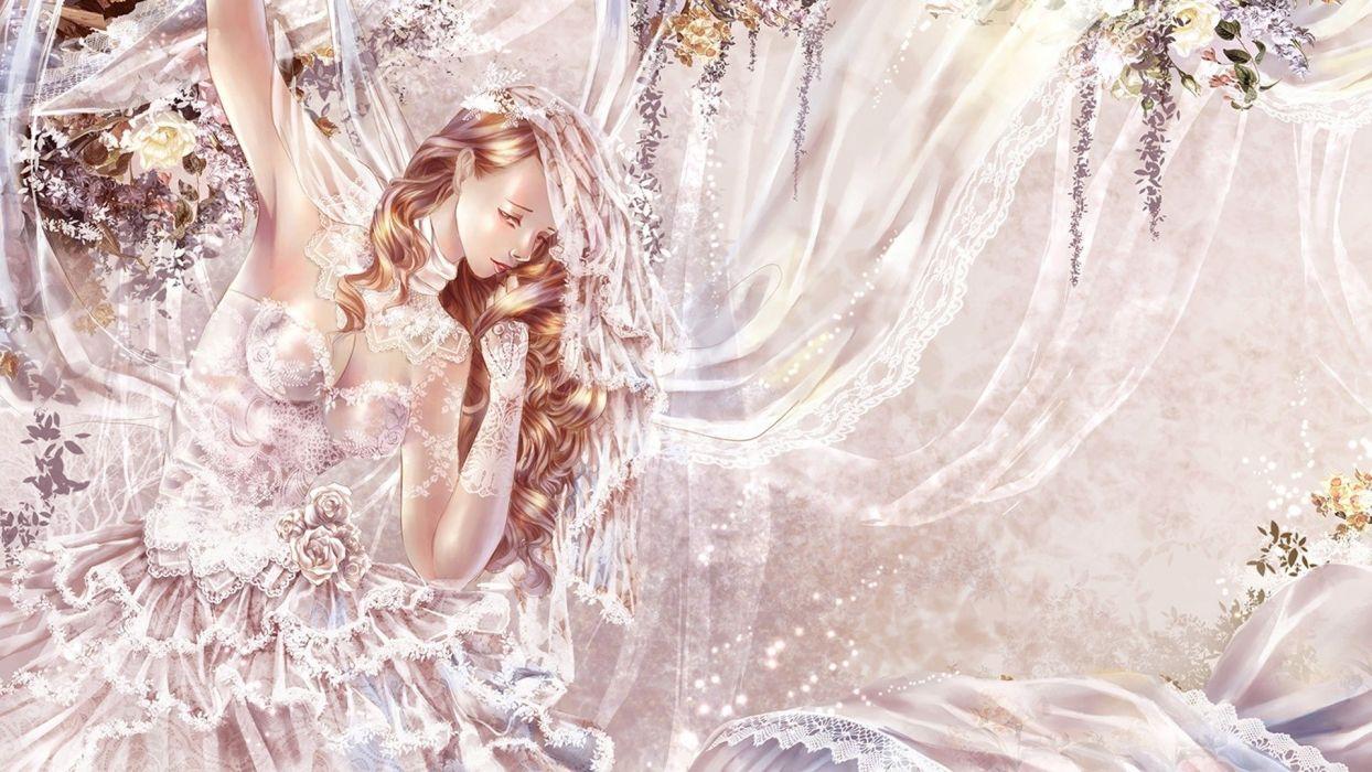 Amazing bride Fantasy Woman Bride wallpaper