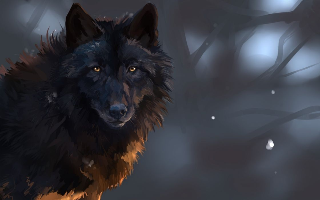 Fantasy Wolf wallpaper