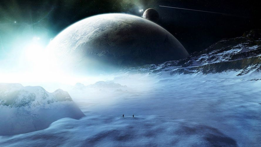 Discovery of a new planet Fantasy Planet Surface wallpaper