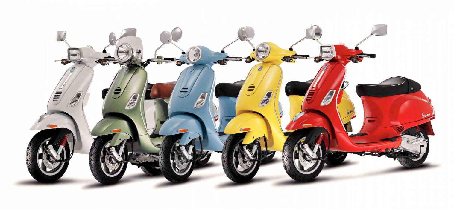 motos 5 vespas colores wallpaper