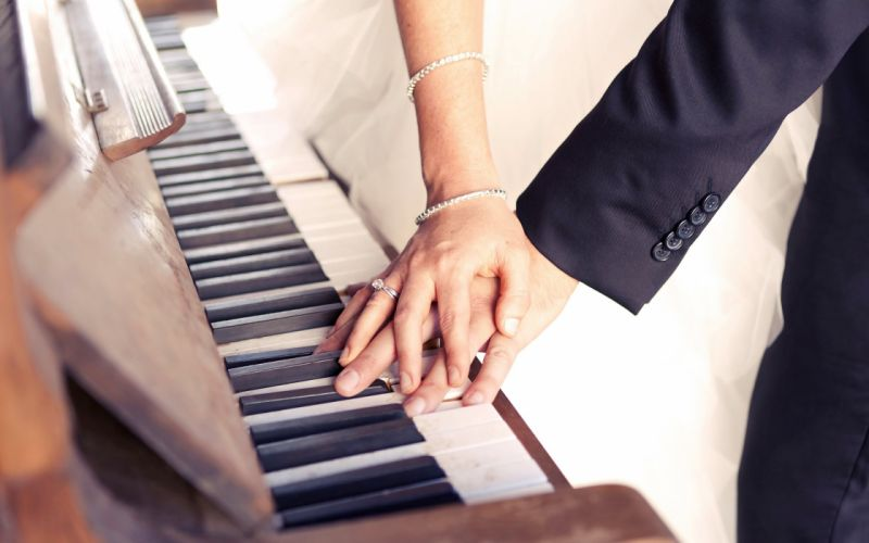Photography Woman Piano Man wallpaper