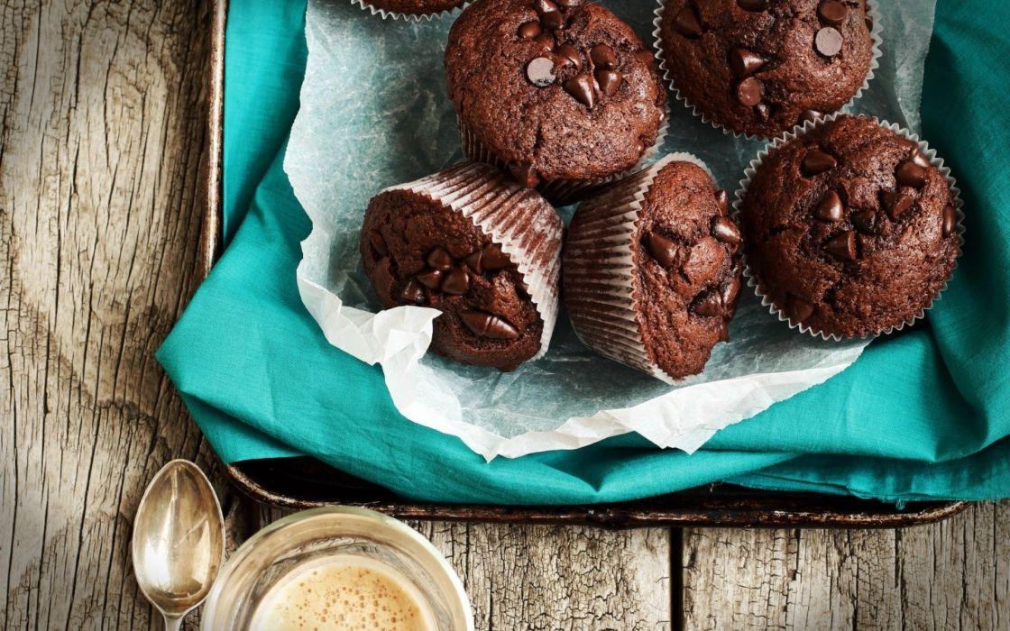 chocolate-muffins- wallpaper