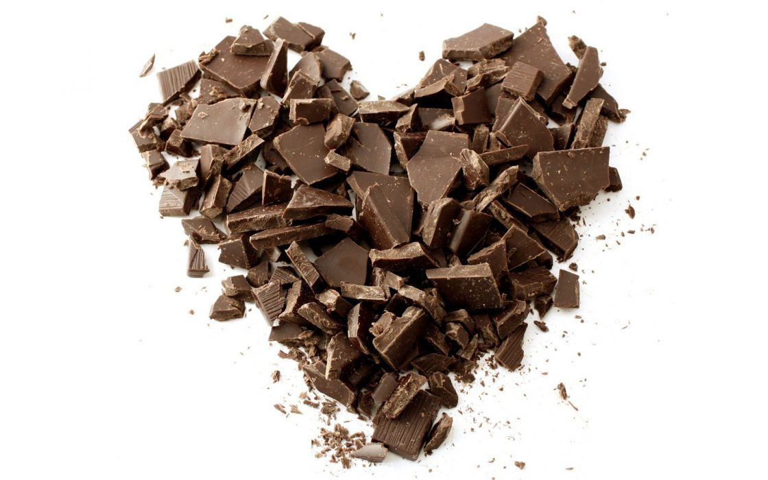 chocolate-pieces-forming-a-heart- wallpaper