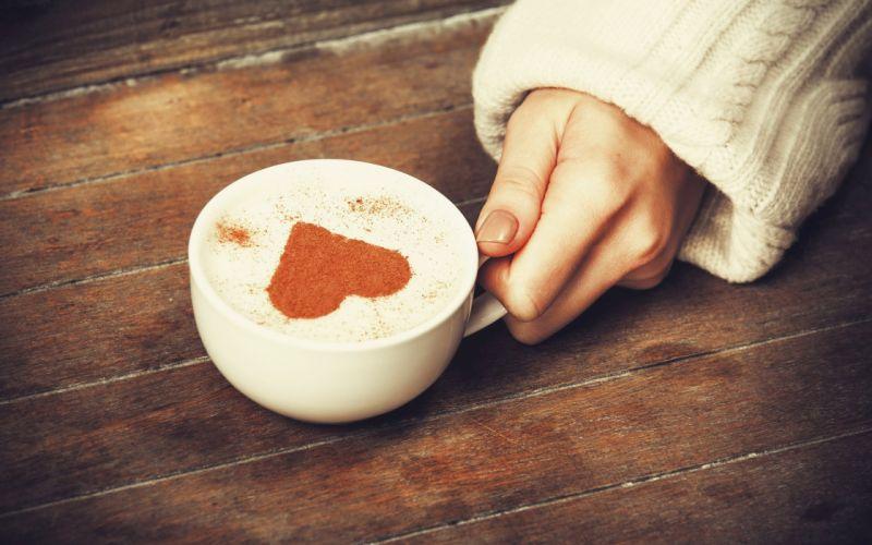 Heart Cup Cappuccino wallpaper