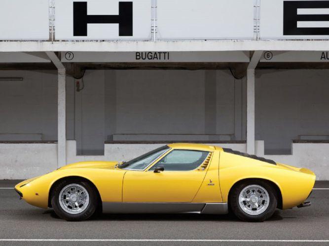 1971 Lamborghini Miura P400-S suparcars cars classic wallpaper