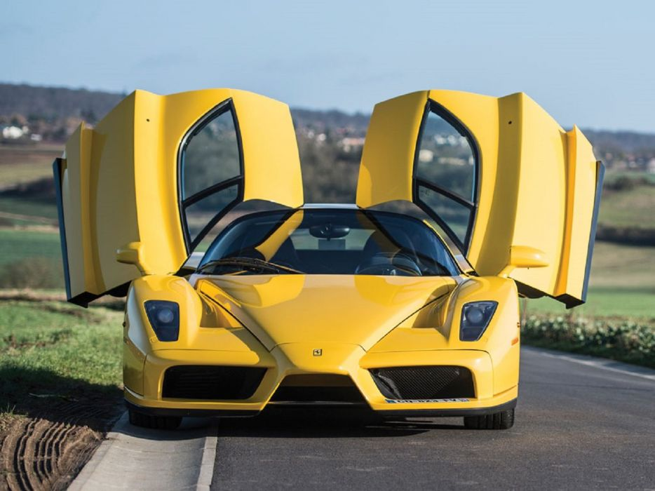 2002 Ferrari Enzo cars supercars yellow wallpaper