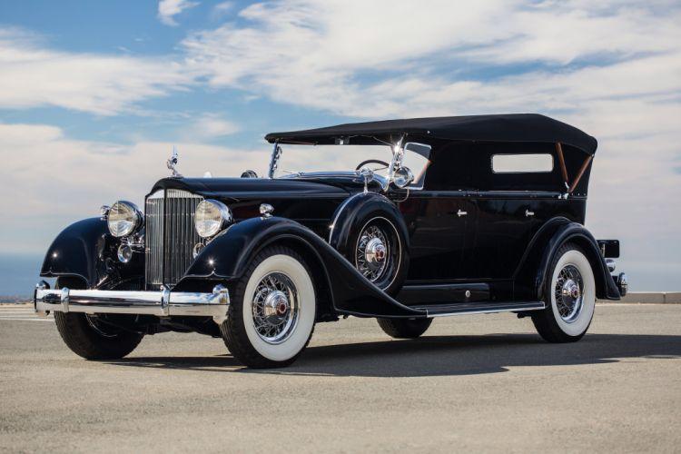 1934 Packard Twelve7 passenger Touring Classic Old Vintage Original USA 3600x2400-05 wallpaper