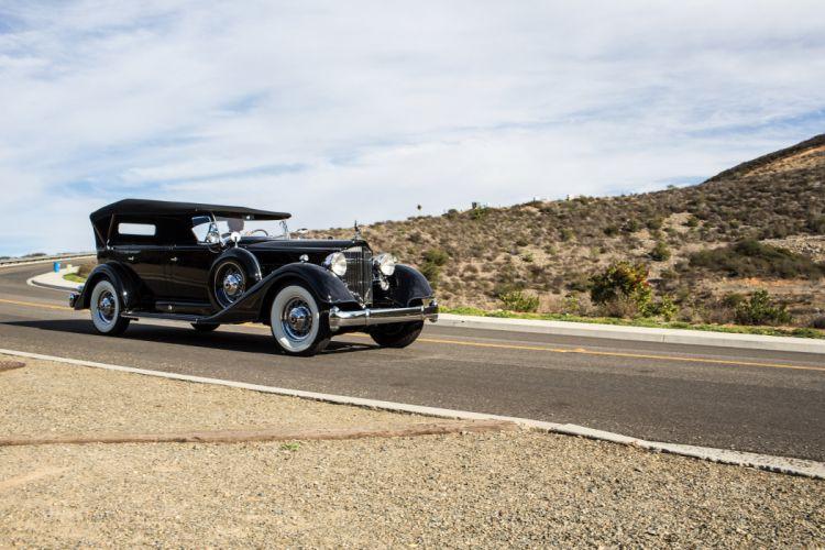 1934 Packard Twelve7 passenger Touring Classic Old Vintage Original USA 3600x2400-03 wallpaper