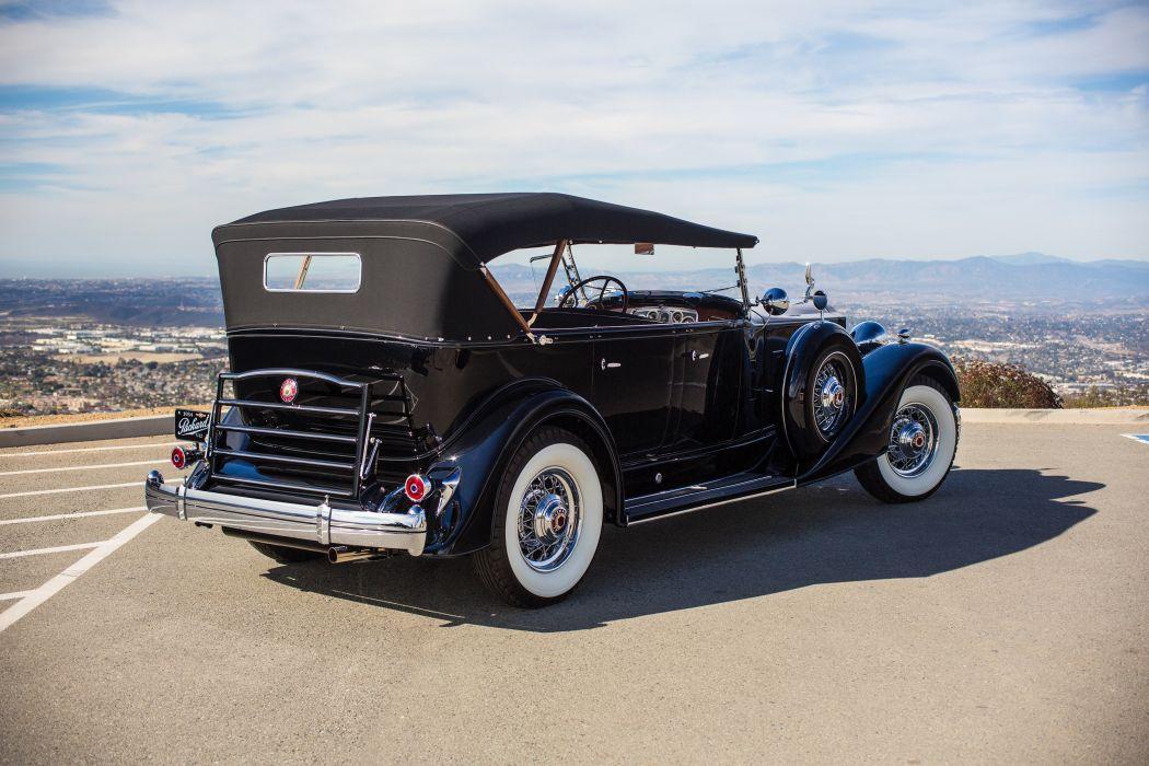 1934 Packard Twelve7 passenger Touring Classic Old Vintage Original USA 3600x2400-06 wallpaper