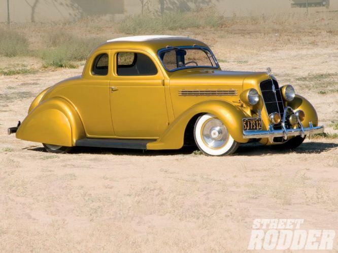 1935 Plymouth Coupe 5 Window Hotrod Hot Rod Custom Old School Yellow Low Sleed USA 1600x1200-01 wallpaper