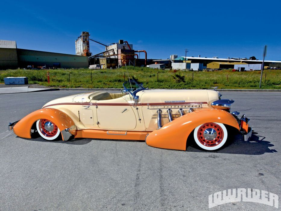 1936 Auburn 852 Roadster Hotrod Hot Hod Custom Low Lowrider Sleed Vlack USA 1600x1200-04 wallpaper