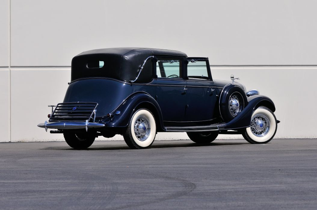 1935 Lincoln Limousine Model K Classic Old Retro Vintage Black Blue USA 4200x2790-03 wallpaper