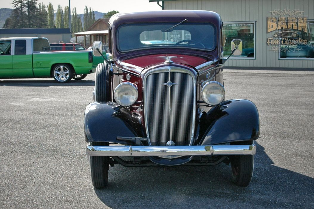 1936 Chevrolet Pickup Classic Old Retro Vintage Red Silver USA 1500x1000-02 wallpaper