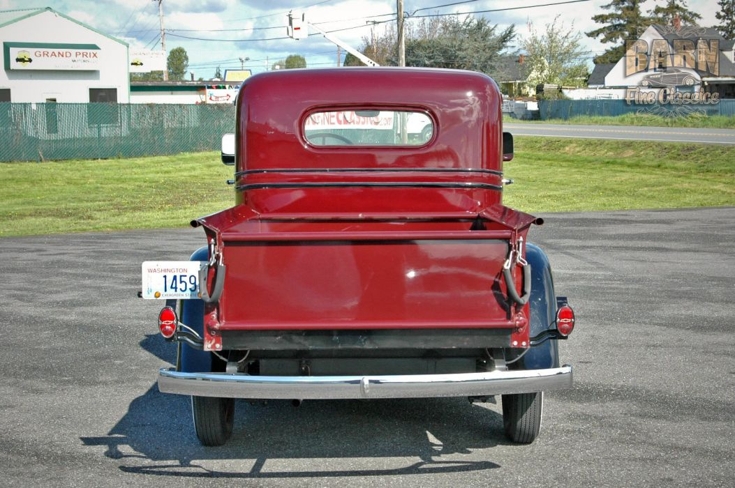 1936 Chevrolet Pickup Classic Old Retro Vintage Red Silver USA 1500x1000-04 wallpaper