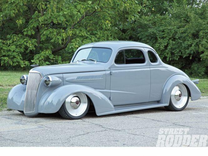 1936 Chevrolet Chevy Coupe 5 Window Hotrod Hot Rod Custom Low Old School USA 1600x1200-02 wallpaper