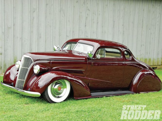 1936 Chevrolet Chevy Coupe 5 Window Hotrod Hot Rod Custom Low Old School USA 1600x1200-01 wallpaper