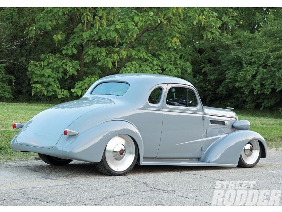 1936 Chevrolet Chevy Coupe 5 Window Hotrod Hot Rod Custom Low Old
