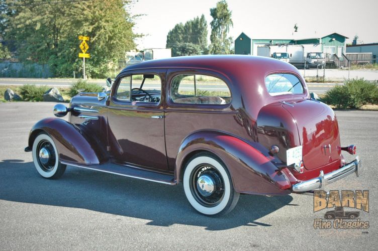 1936 Chevrolet Sedan 2 Door Classic Old Retro Vintage Blue USA 1500x1000-02 wallpaper