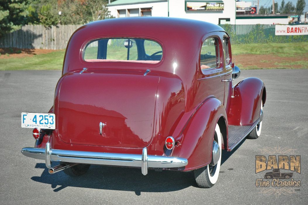 1936 Chevrolet Sedan 2 Door Classic Old Retro Vintage Blue USA 1500x1000-03 wallpaper