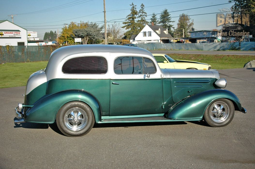 1936 Chevrolet Sedan 2 Door Humpback Streetrod Hotrod Hot Rod Street