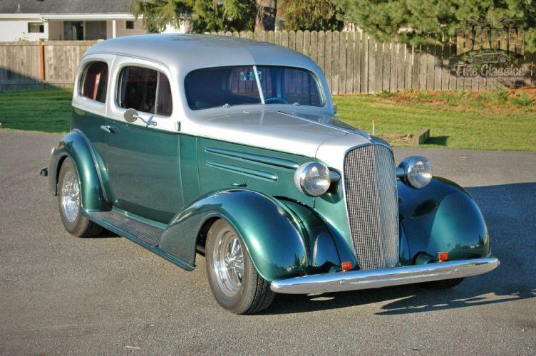 1936 Chevrolet Sedan 2 Door Humpback Streetrod Hotrod Hot Rod Street USA 1500x1000-04 wallpaper