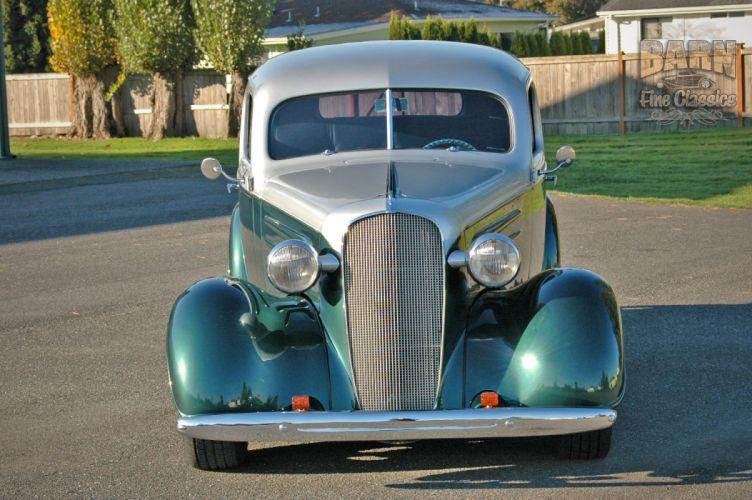 1936 Chevrolet Sedan 2 Door Humpback Streetrod Hotrod Hot Rod Street USA 1500x1000-05 wallpaper