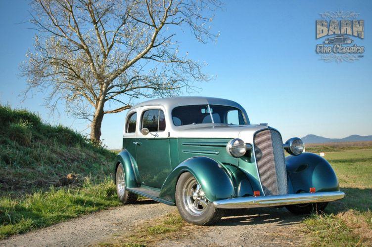 1936 Chevrolet Sedan 2 Door Humpback Streetrod Hotrod Hot Rod Street USA 1500x1000-14 wallpaper