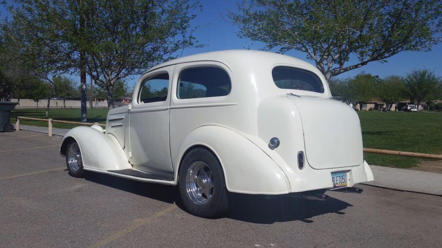 1936 Chevrolet Sedan Two Door Streetrod Hotrod Hot Rod Street USA 2200x1238-02 wallpaper