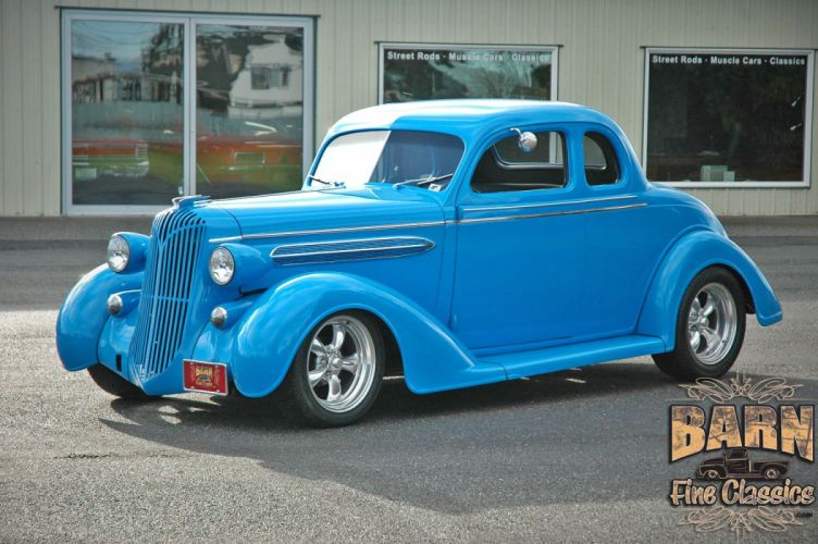 1936 Chrysler Coupe 5 Window Streetrod Hotrod Hot Rod Street Blue USA 1500x1000-02 wallpaper