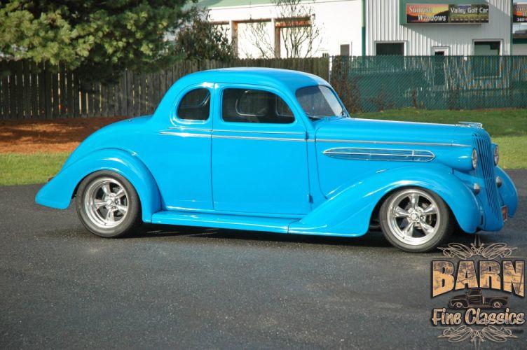 1936 Chrysler Coupe 5 Window Streetrod Hotrod Hot Rod Street Blue USA 1500x1000-06 wallpaper