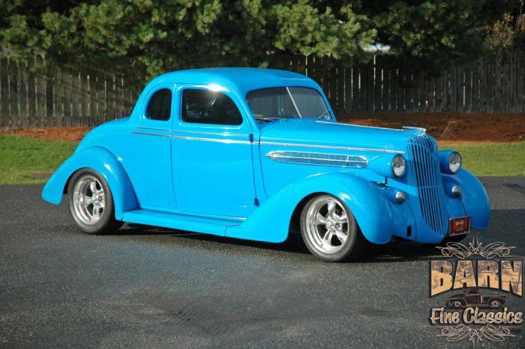 1936 Chrysler Coupe 5 Window Streetrod Hotrod Hot Rod Street Blue USA 1500x1000-07 wallpaper