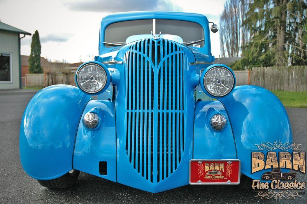 1936 Chrysler Coupe 5 Window Streetrod Hotrod Hot Rod Street Blue USA 1500x1000-09 wallpaper
