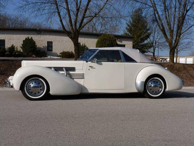 1936 Cord 810 Convertible Replica Classic Old Retro White USA 1600x1200-03 wallpaper