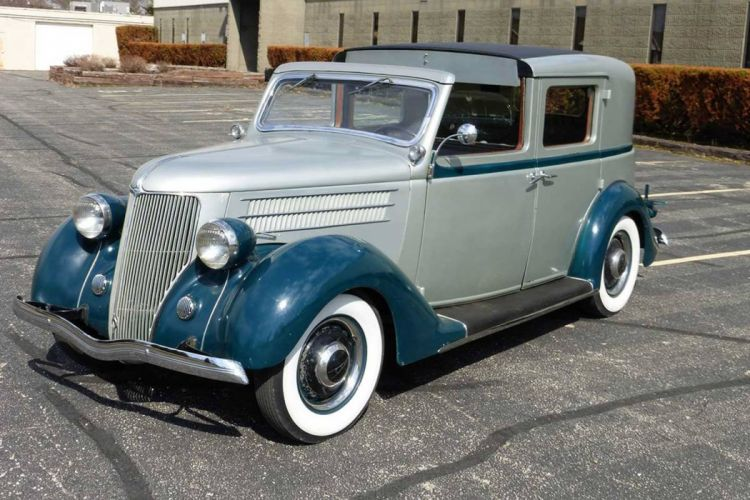 1936 Cunningham Ford Town Car Classic Old Retro Vintage USA 1440x960-02 wallpaper