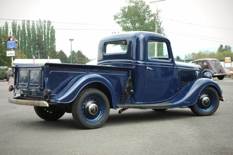 1936 Ford Pickup Classic Old Retro Vintage Blue USA 1500x1000-06 wallpaper