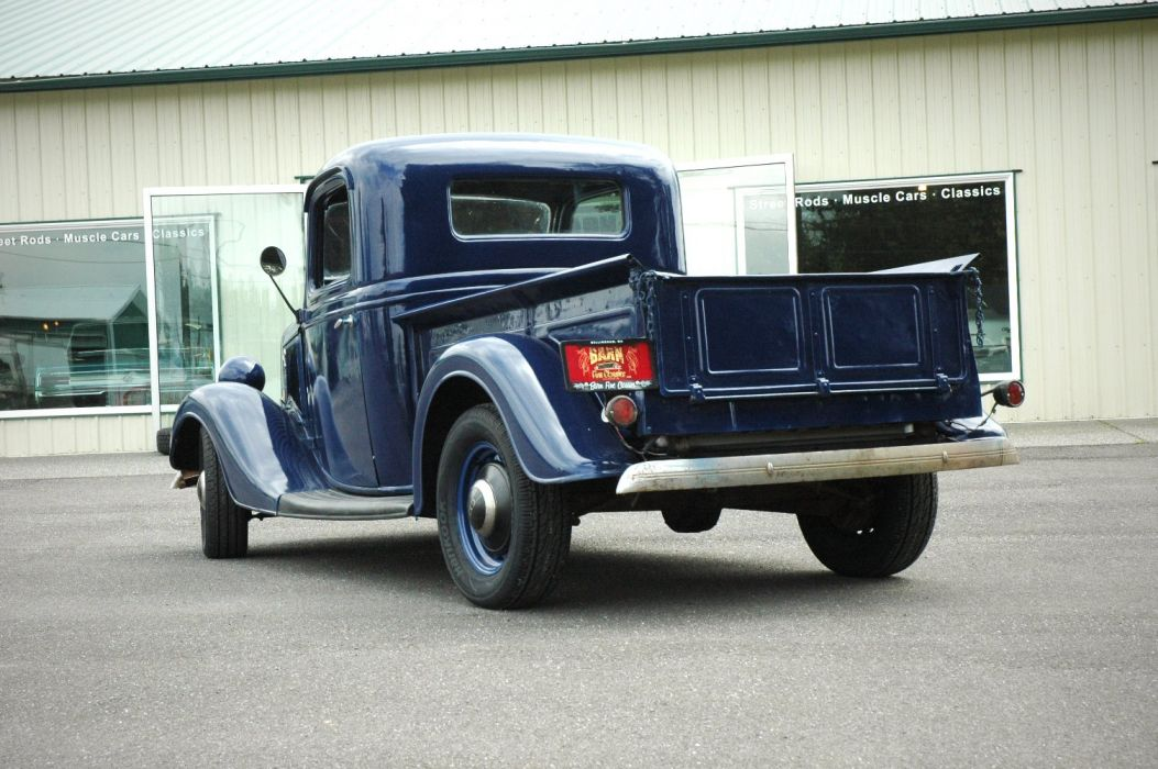1936 Ford Pickup Classic Old Retro Vintage Blue USA 1500x1000-05 wallpaper