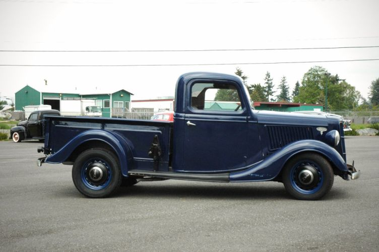 1936 Ford Pickup Classic Old Retro Vintage Blue USA 1500x1000-07 wallpaper