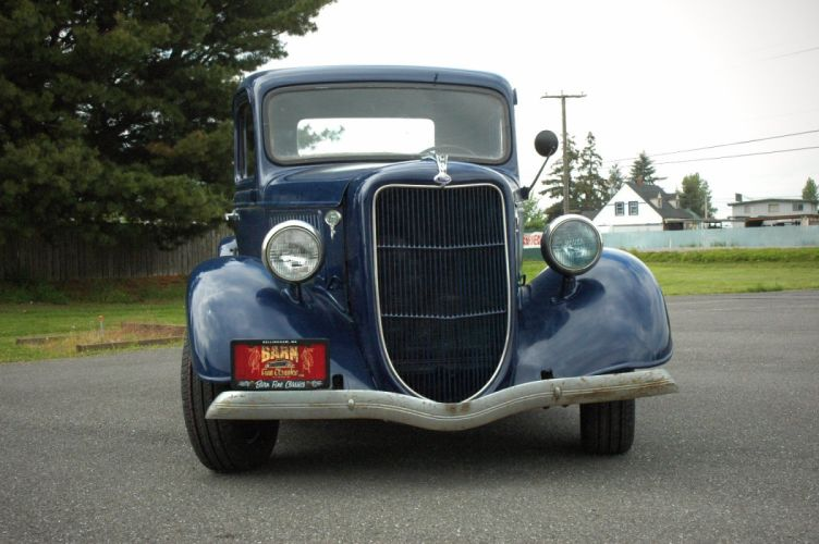 1936 Ford Pickup Classic Old Retro Vintage Blue USA 1500x1000-10 wallpaper
