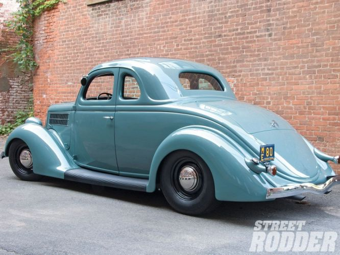 1936 Ford Business Coupe 5 Window Hotrod Hot Rod Custom Old School USA 1600x1200-02 wallpaper