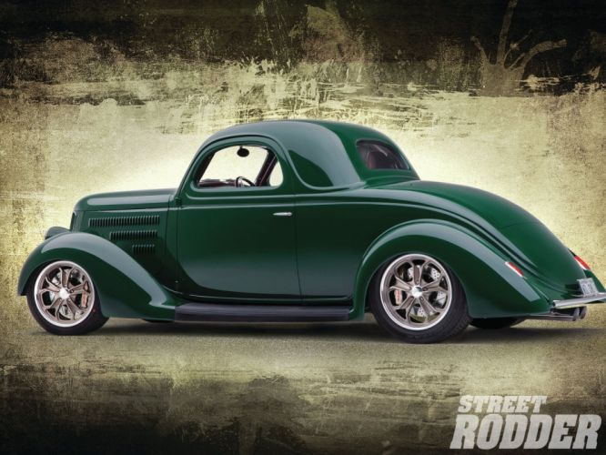 1936 Ford Coupe 3 Window Hotrod Streetrod Hot Rod Street USA 1600x1200-02 wallpaper