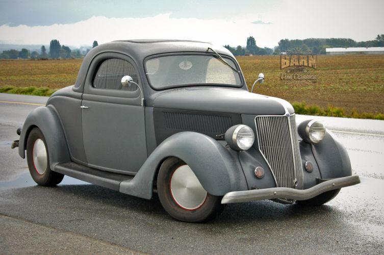 1936 Ford Coupe 3 Window Hotrod Hot Rod Custom Old School USA 2240x1488-07 wallpaper