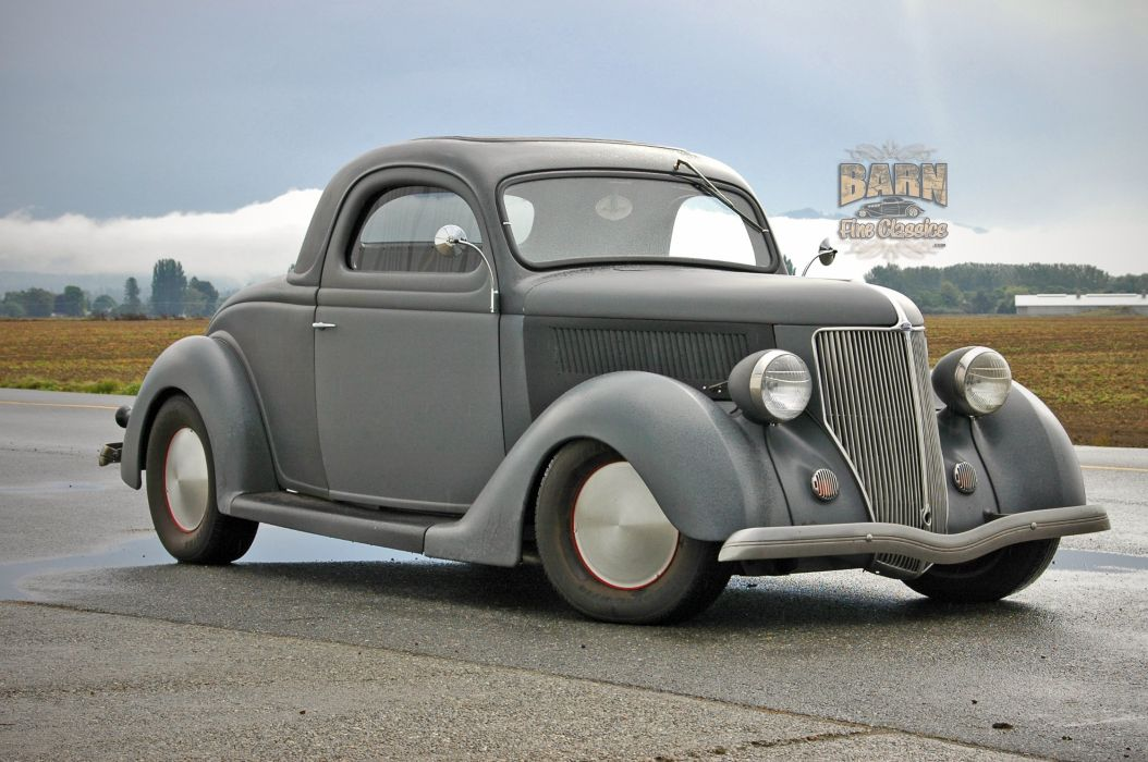 1936 Ford Coupe 3 Window Hotrod Hot Rod Custom Old School USA 2240x1488-06 wallpaper