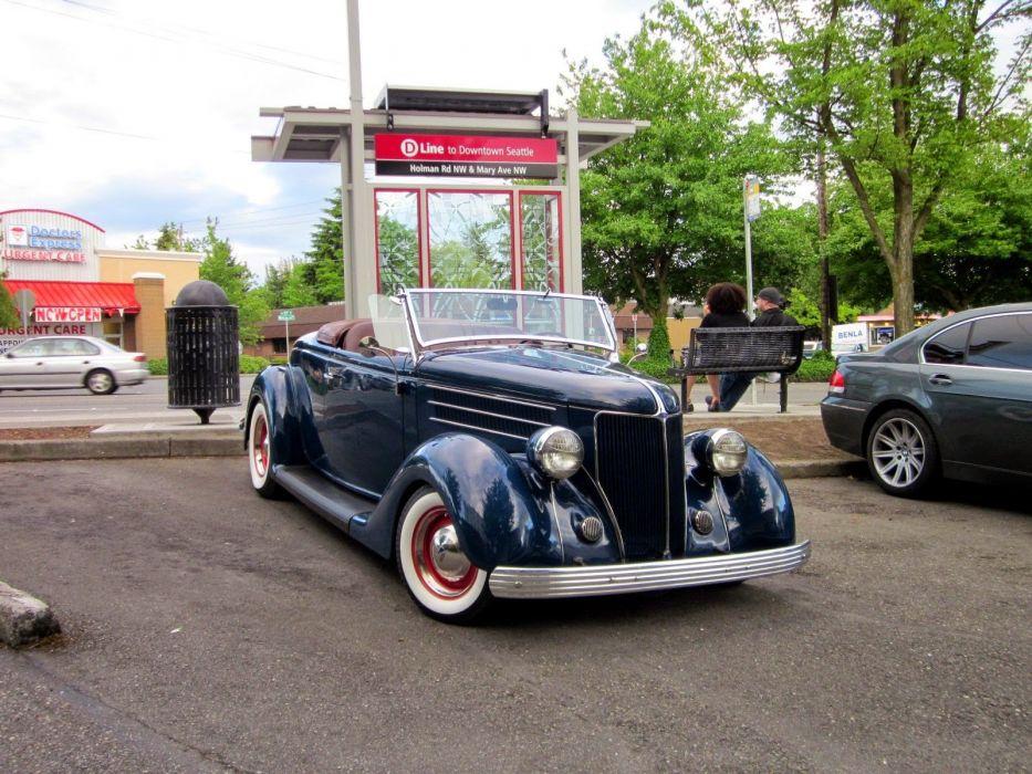 1936 Ford Model 68 Roadster Hotrod Hot Rod Custom Low Old School USA 1600x1200-01 wallpaper