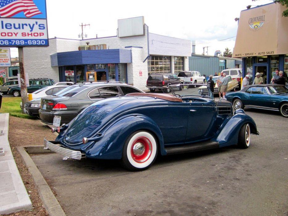 1936 Ford Model 68 Roadster Hotrod Hot Rod Custom Low Old School USA 1600x1200-02 wallpaper