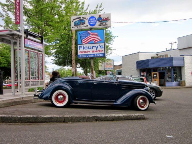 1936 Ford Model 68 Roadster Hotrod Hot Rod Custom Low Old School USA 1600x1200-03 wallpaper
