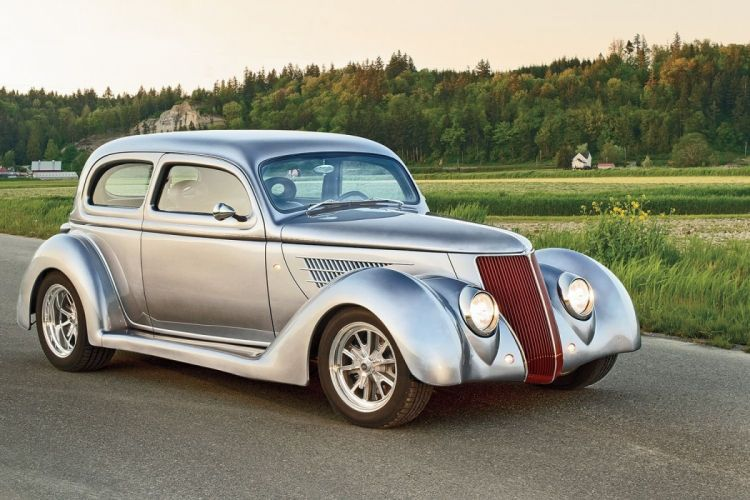 1936 Ford Sedan 2 Doors Hotrod Streetrod Hot Rod Street Hitech Silver USA 1600x1200-01 wallpaper