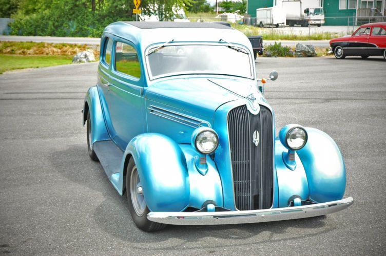 1936 Plymouth Sedan 2 Door Humpback Hotrod Streetrosd Hot Rod Street Blue USA 1500x1000-03 wallpaper