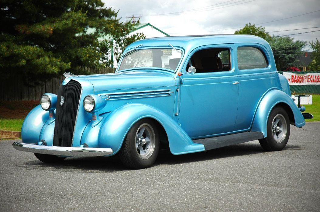 1936 Plymouth Sedan 2 Door Humpback Hotrod Streetrosd Hot Rod Street Blue USA 1500x1000-12 wallpaper