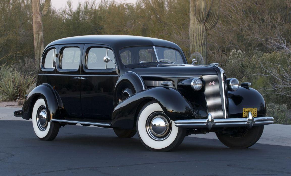 1937 Buick Sedan+4 Door Limited Owned Lee Gurvey Classic Old Retro Vintage BlackUSA 2500x1518 wallpaper